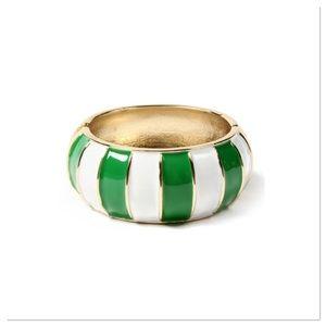 Evergreen Stripe Hinge Bangle